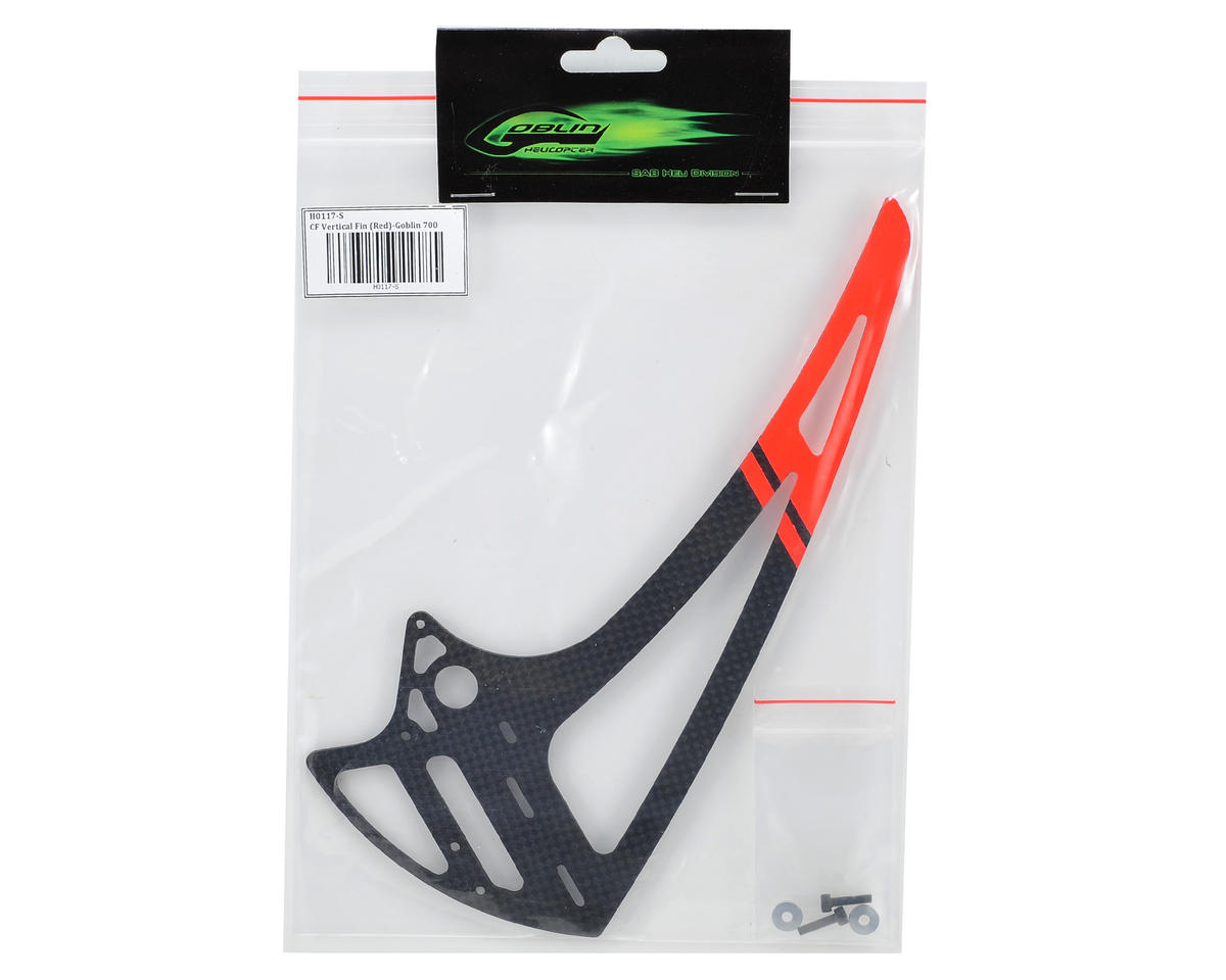 SAB Goblin Carbon Fiber Vertical Fin (Red)