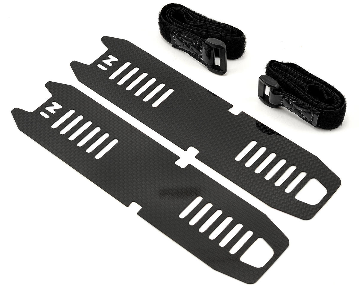 SAB Goblin 500 Carbon Fiber Battery Tray Set w/Battery Straps