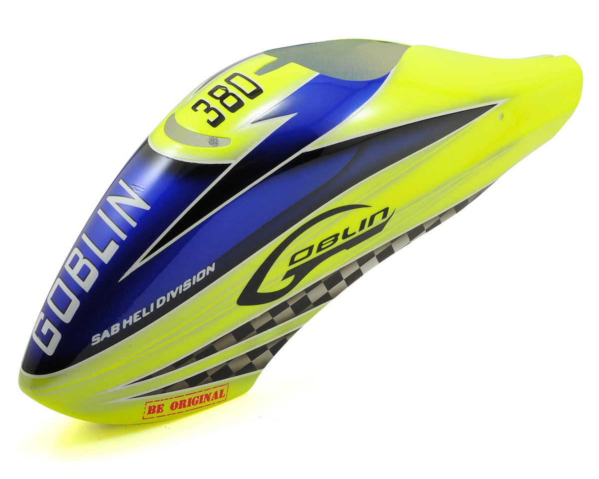 Goblin 380 Canopy (Yellow/Blue) by SAB Goblin
