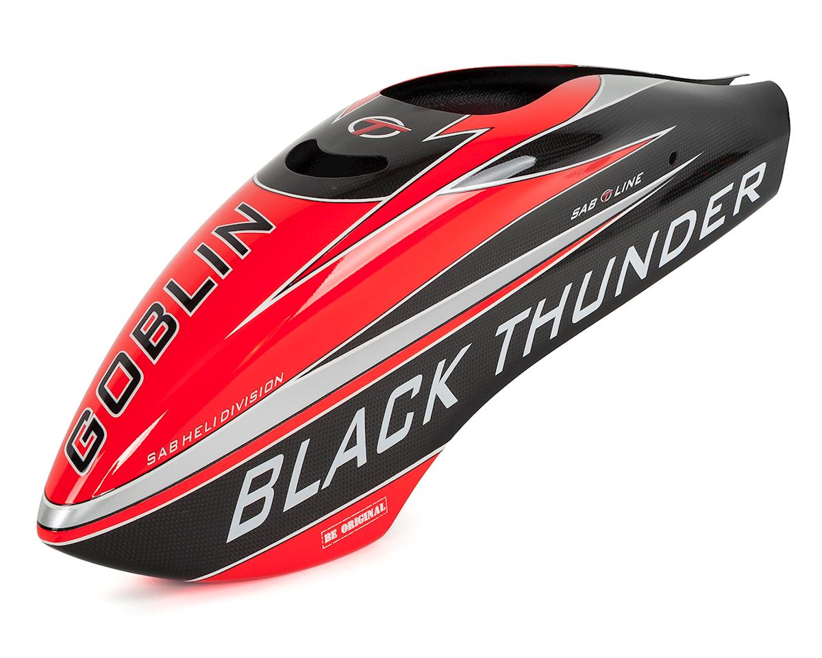 Black Thunder T Fiberglass Canopy (Black/Red)