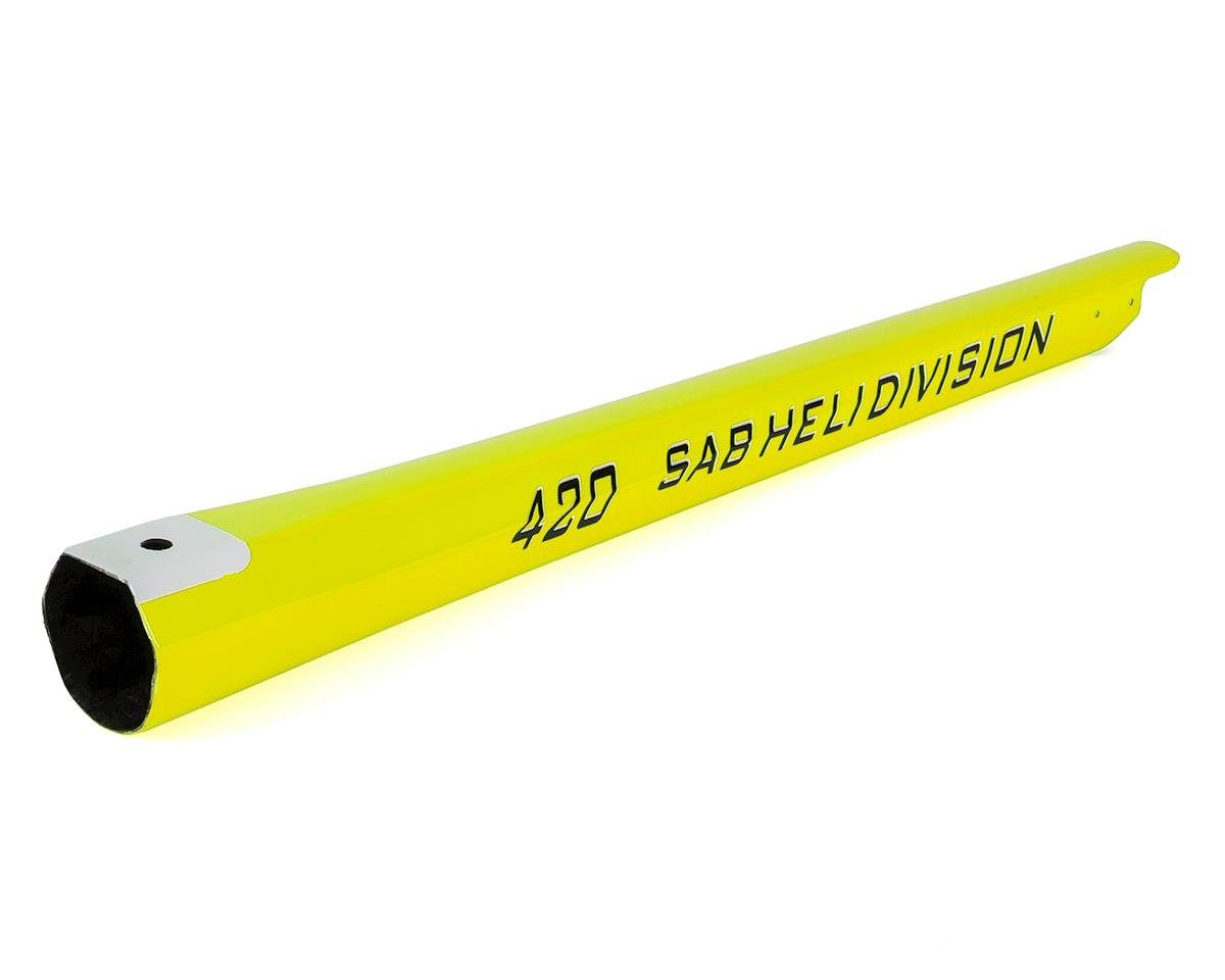 SAB Goblin 420 Carbon Fiber Tail Boom (Yellow)