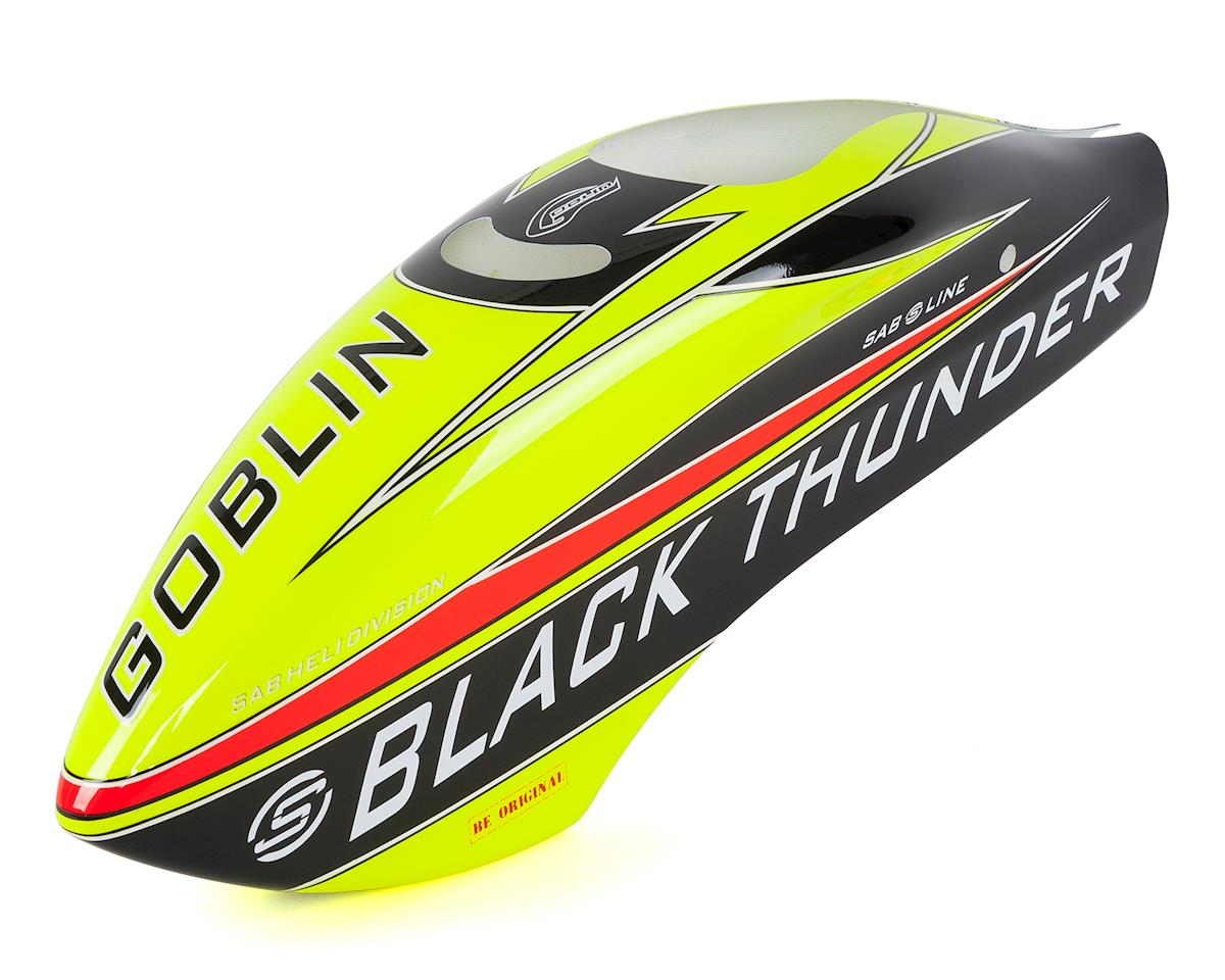 Goblin Black Thunder Sport Airbrush Canopy (Yellow/Black) by SAB Goblin