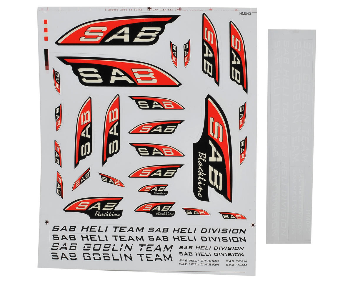 SAB Black Line Decal Sheet