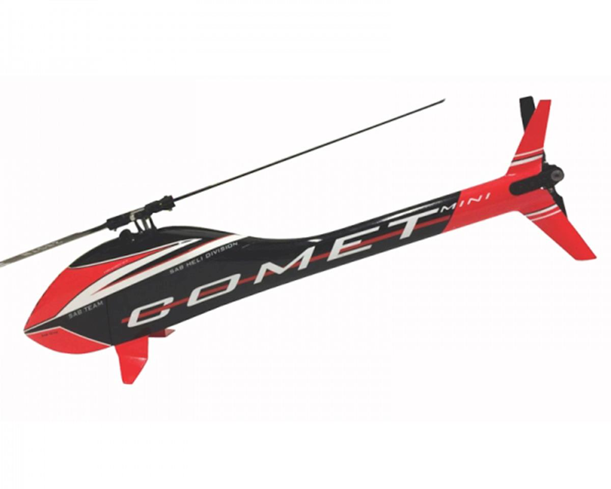 Goblin Mini Comet Electric Helicopter Kit (Black/Red)