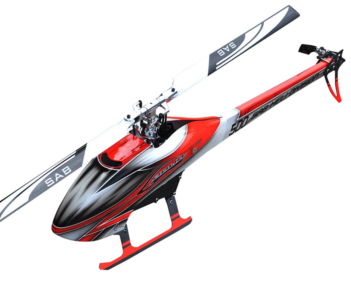 SAB Goblin 500 Flybarless Electric Helicopter Kit w/Blades (Red/White)