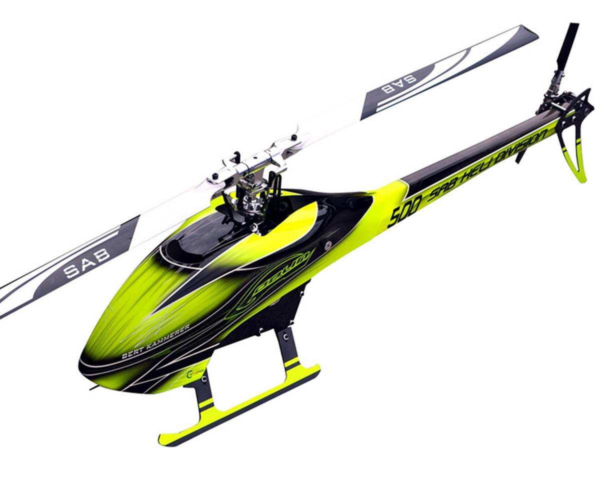 SAB Goblin 500 Flybarless Electric Helicopter Kit w/Blades (Yellow/Black)