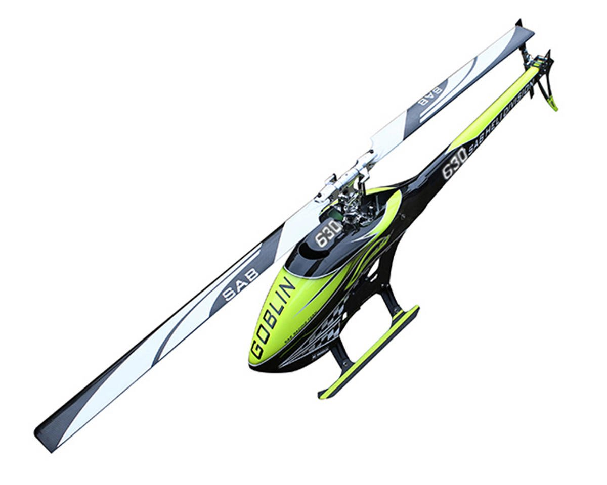 """SAB Goblin 630 """"Carbon Edition"""" Flybarless Electric Helicopter Kit"""