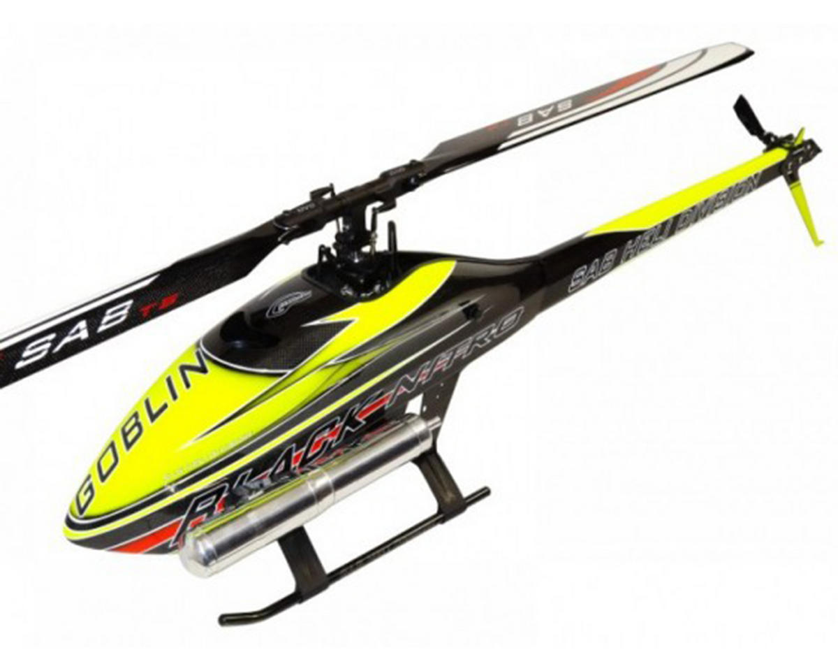 SAB Goblin Black Nitro 650 Flybarless Helicopter Kit (Yellow)