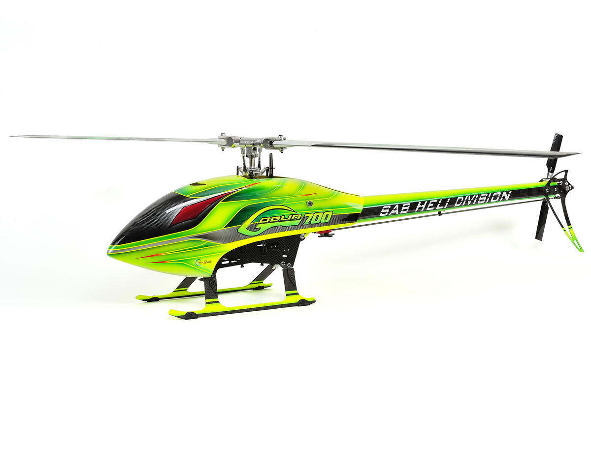 SAB Goblin 700 Flybarless Electric Helicopter Kit w/Carbon Fiber Blades (Green)