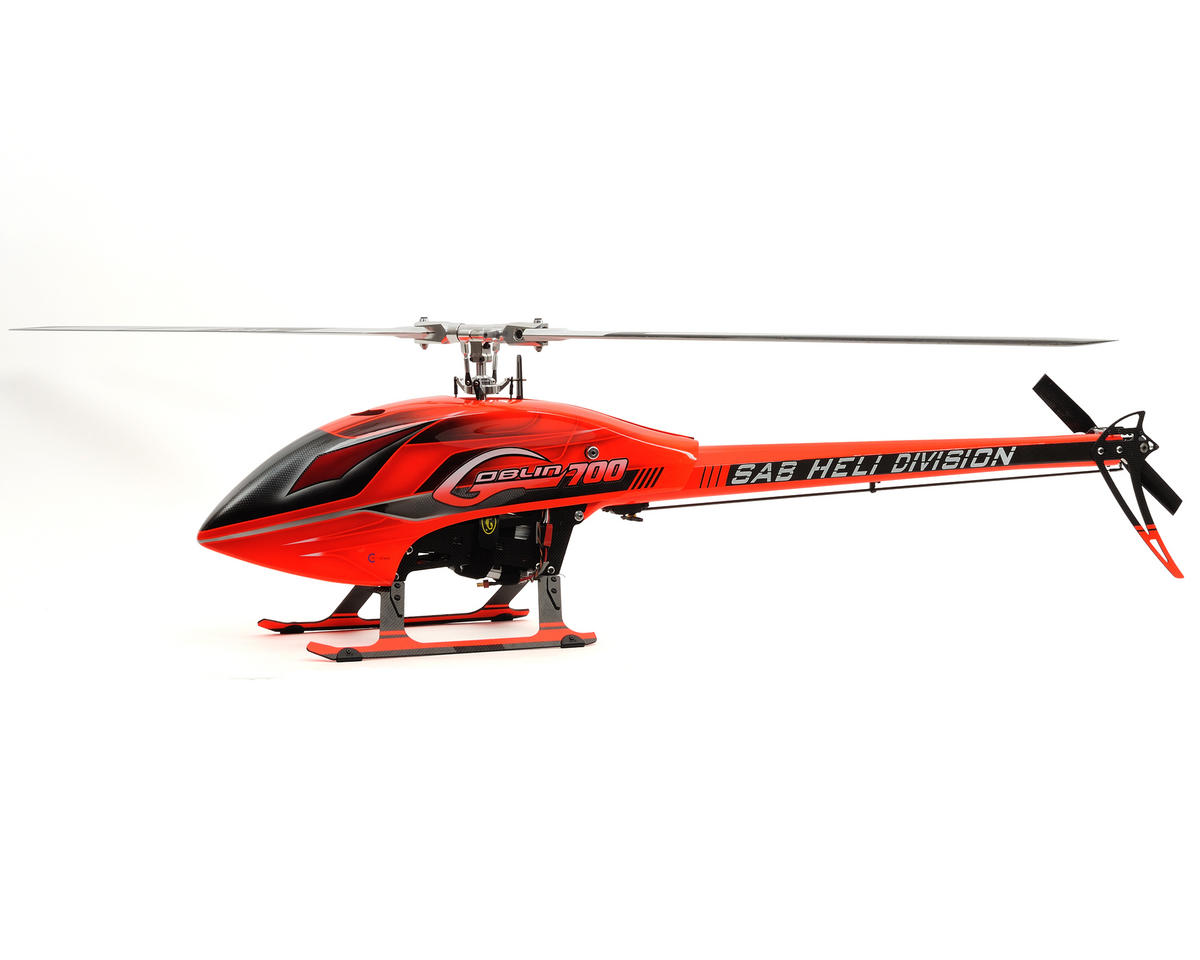 SAB Goblin 700 Flybarless Electric Helicopter Kit w/Carbon Fiber Blades (Red)