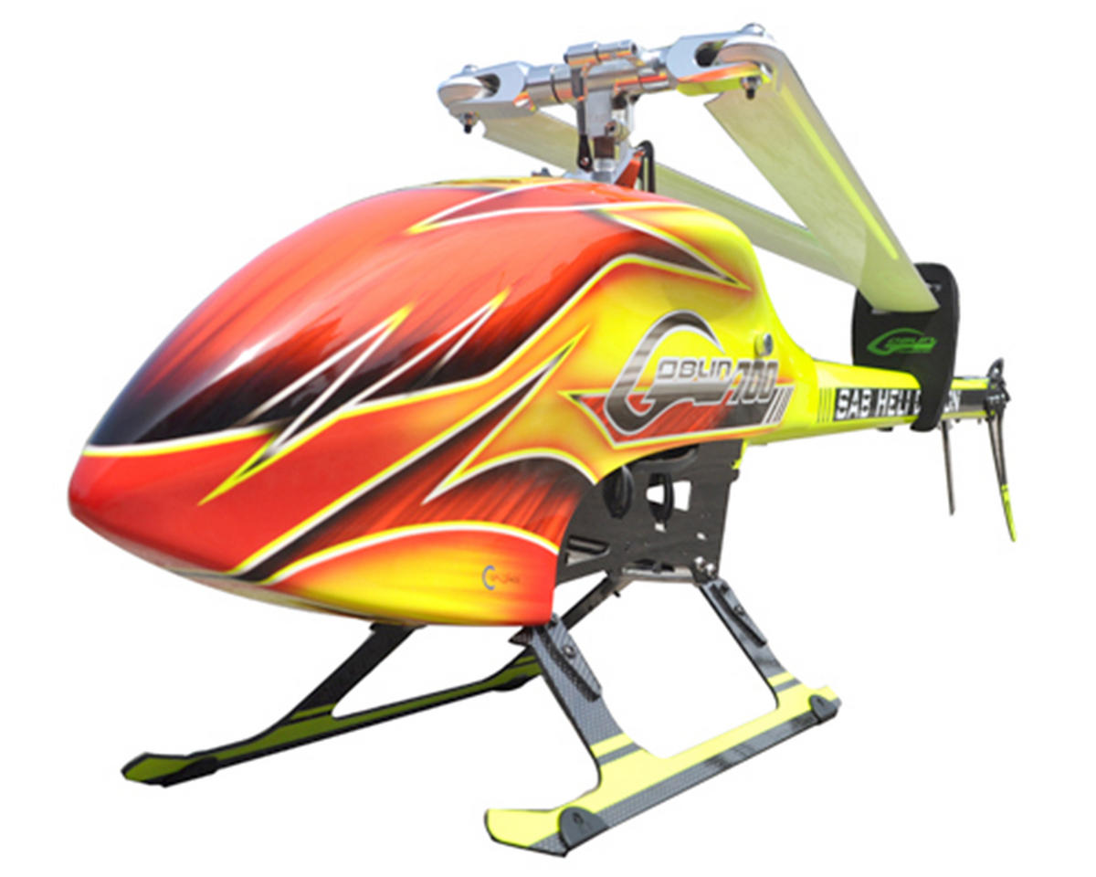 SAB Goblin 700 Flybarless Electric Helicopter Kit w/FREE J1S Cyclone Blades! (Yellow)
