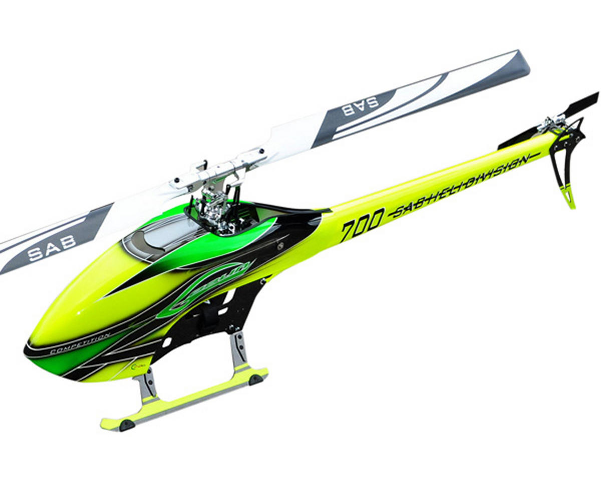 SAB Goblin 700 Competition Edition Flybarless Electric Helicopter Kit w/CF Blades (Green)