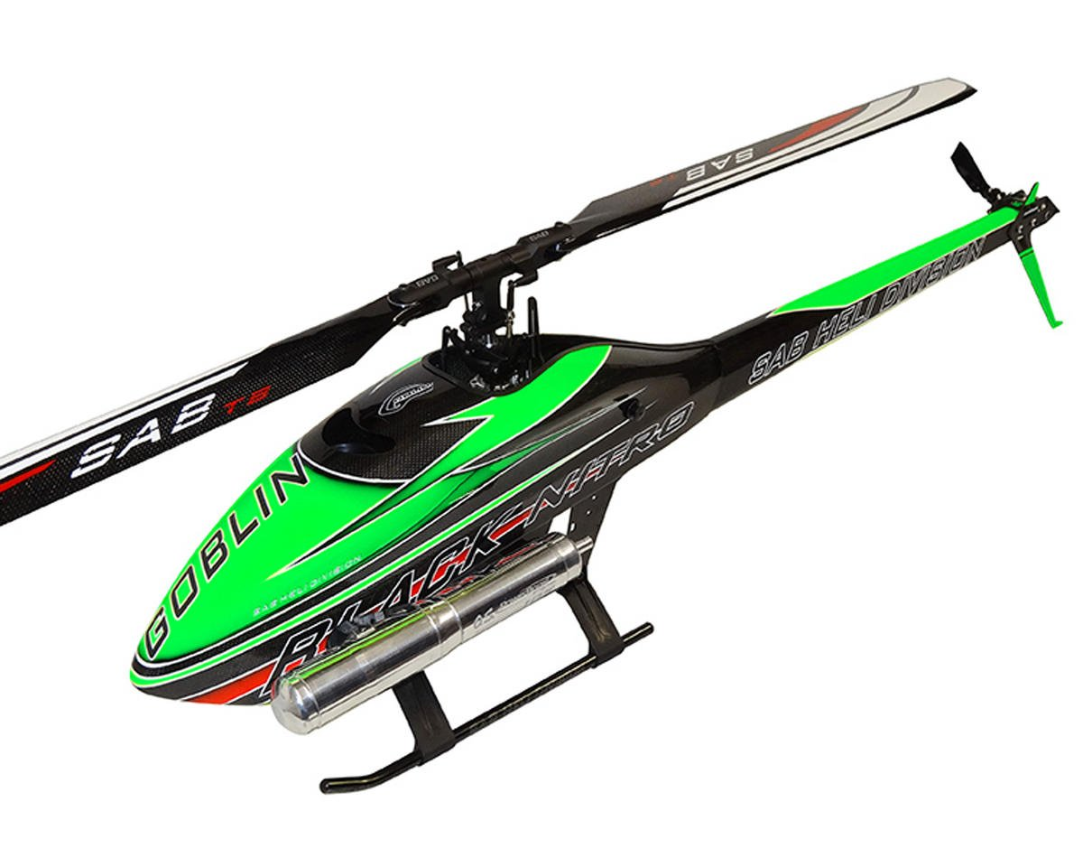 Goblin Black Nitro 700 Flybarless Helicopter Kit (Green) by SAB