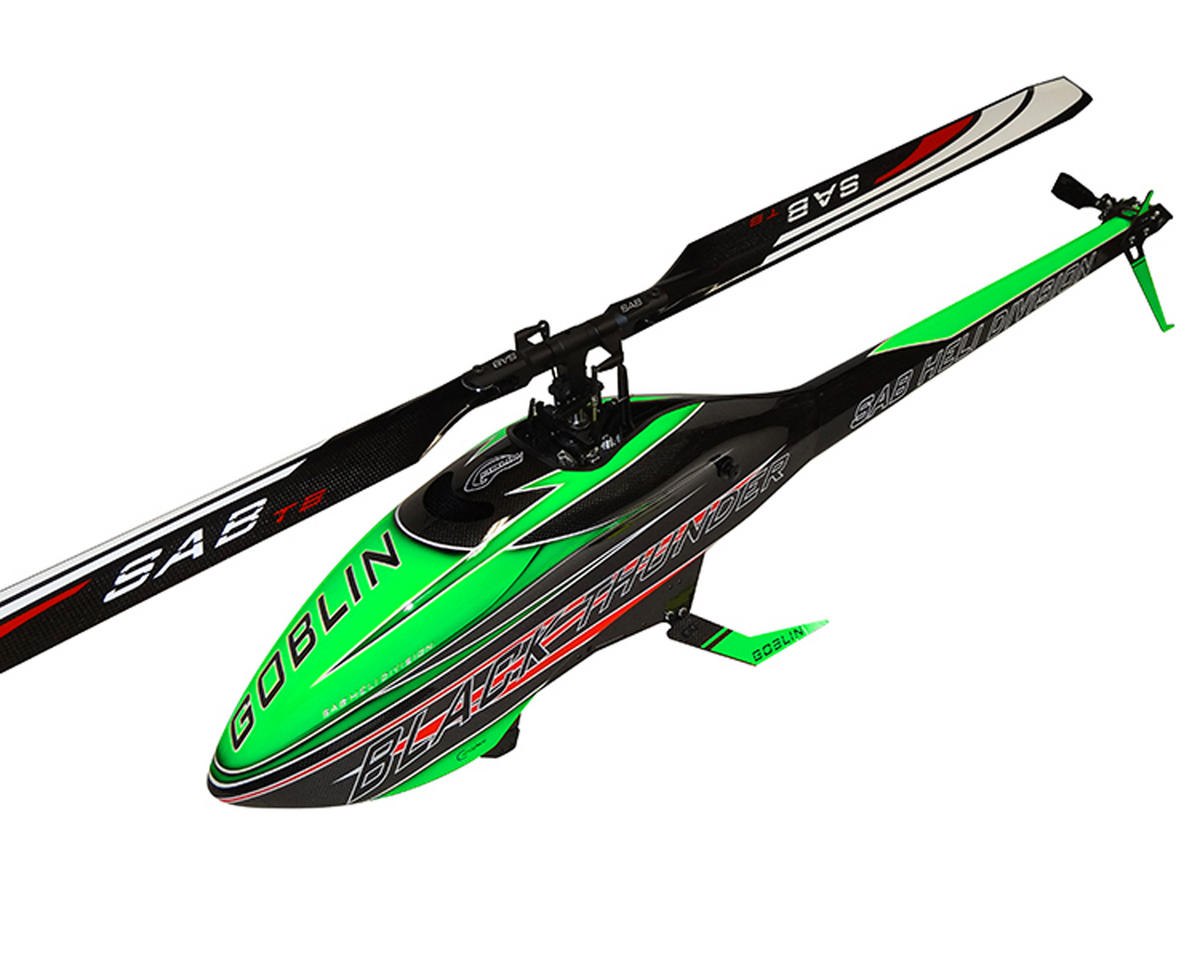 Goblin Black Thunder 700 Flybarless Electric Helicopter Kit (Green) by SAB