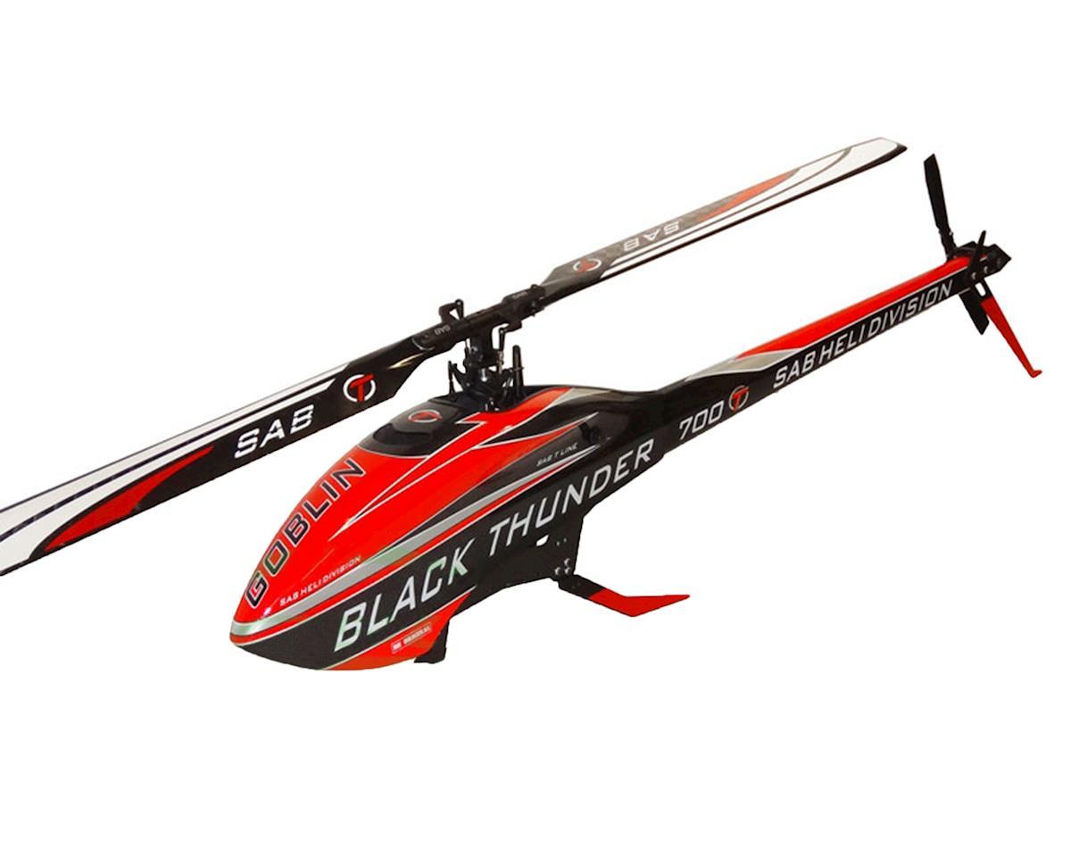 """SAB Goblin Black Thunder """"T Line"""" 700 Flybarless Helicopter Kit (Red)"""