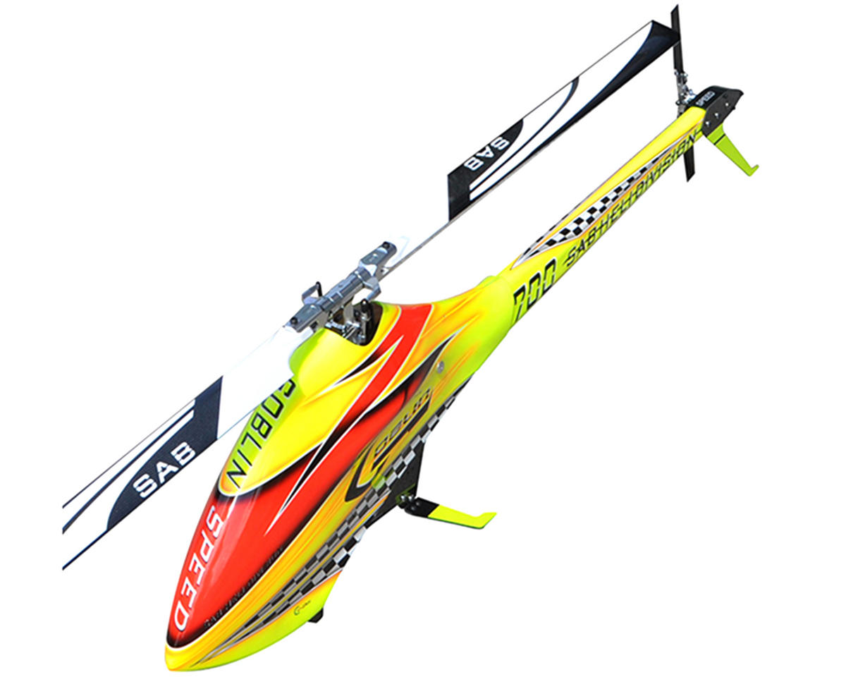 SAB Goblin 700 Speed Flybarless Electric Helicopter Kit w/CF Blades (Yellow)
