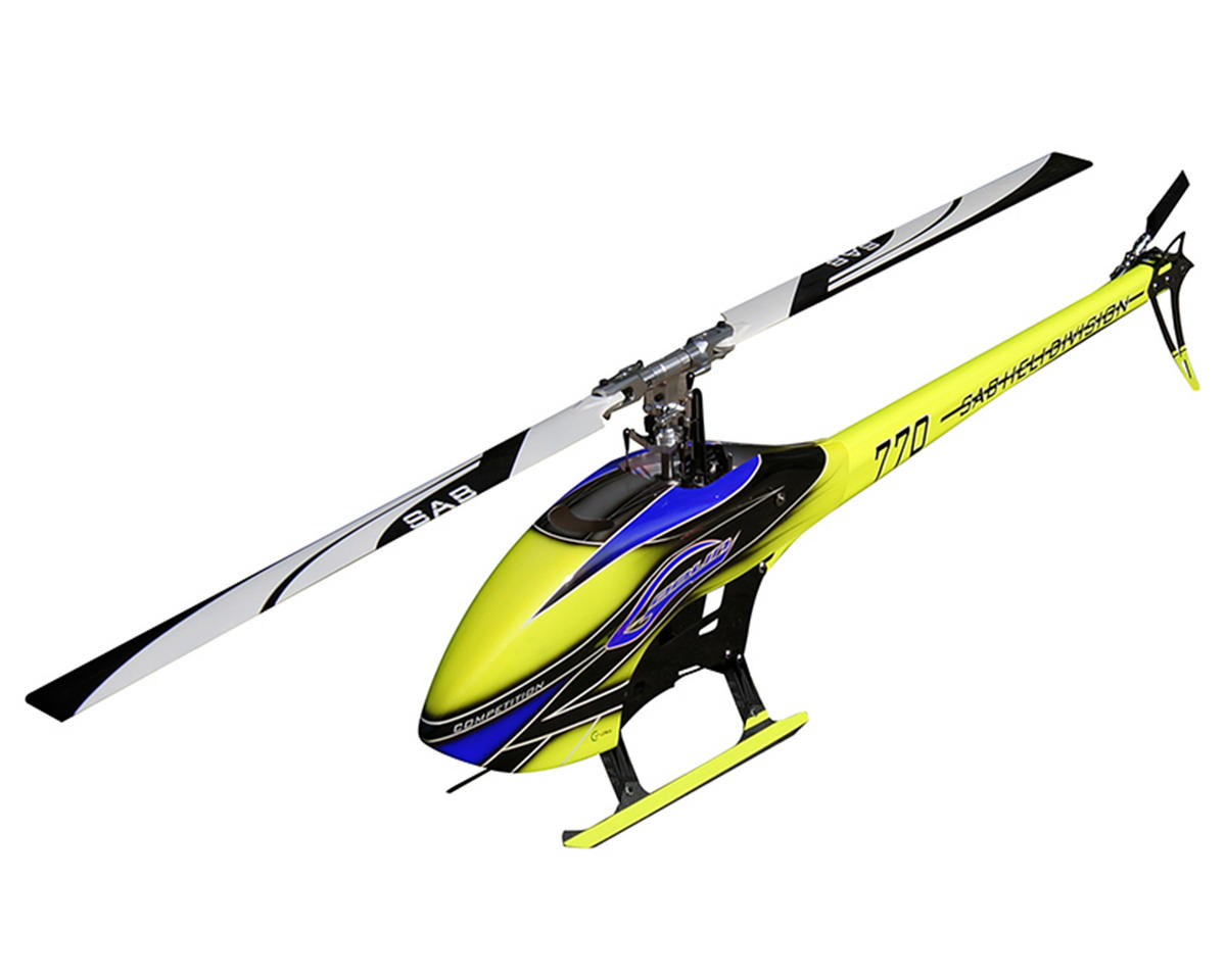 SAB Goblin 770 Competition Flybarless Electric Helicopter Kit w/Carbon Fiber Blades (Blue)