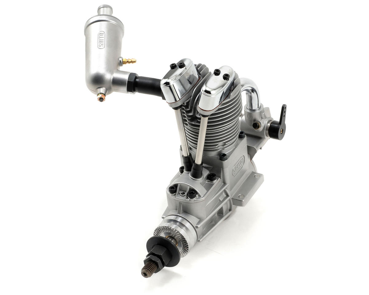 100 FA-AAC Four Stroke Glow Engine w/Muffler: QQ by Saito Engines