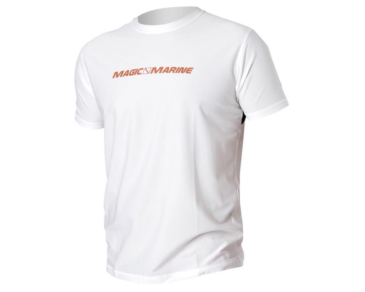 Magic Marine Cube Quick Dry Top Short Sleeve White