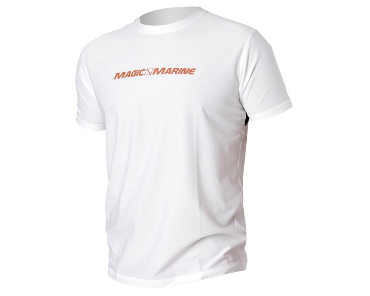 Image 1 for Magic Marine Cube Quick Dry Top Short Sleeve White (XL)