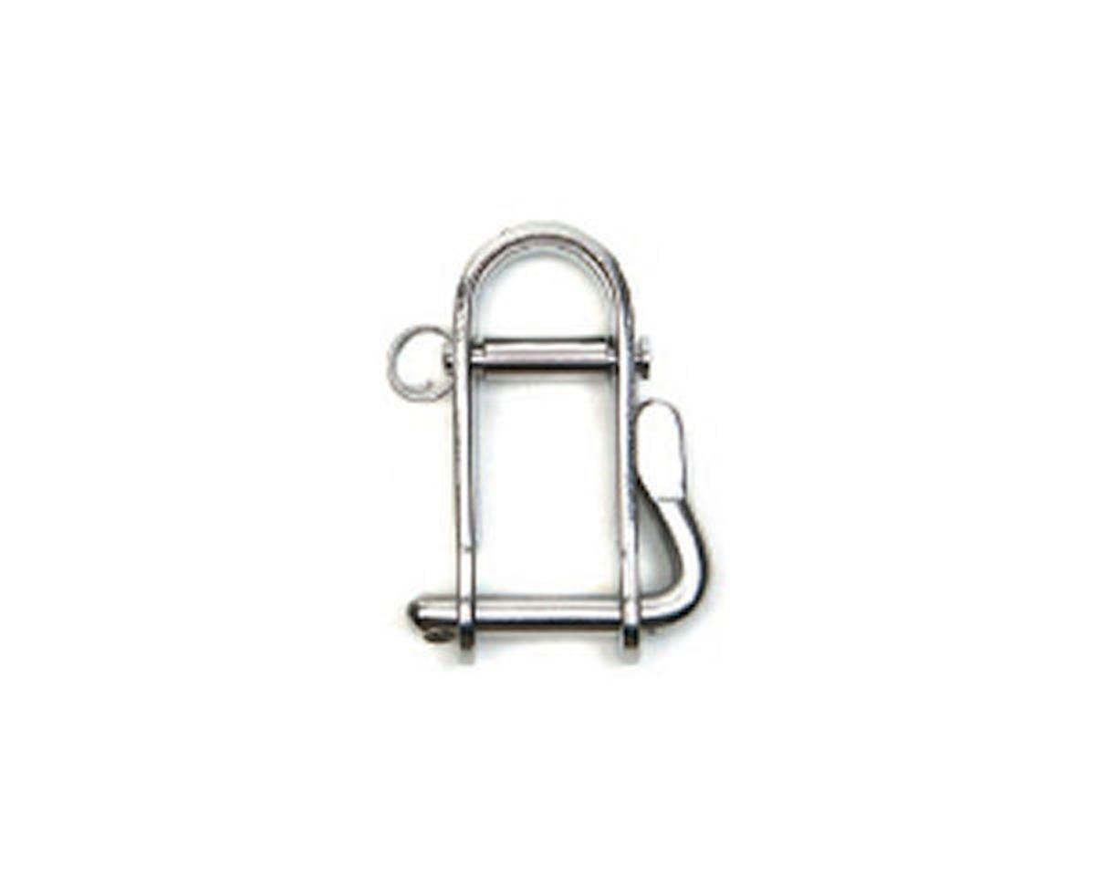 Quick twist Halyard Shackle with removable guard pin 1/4""