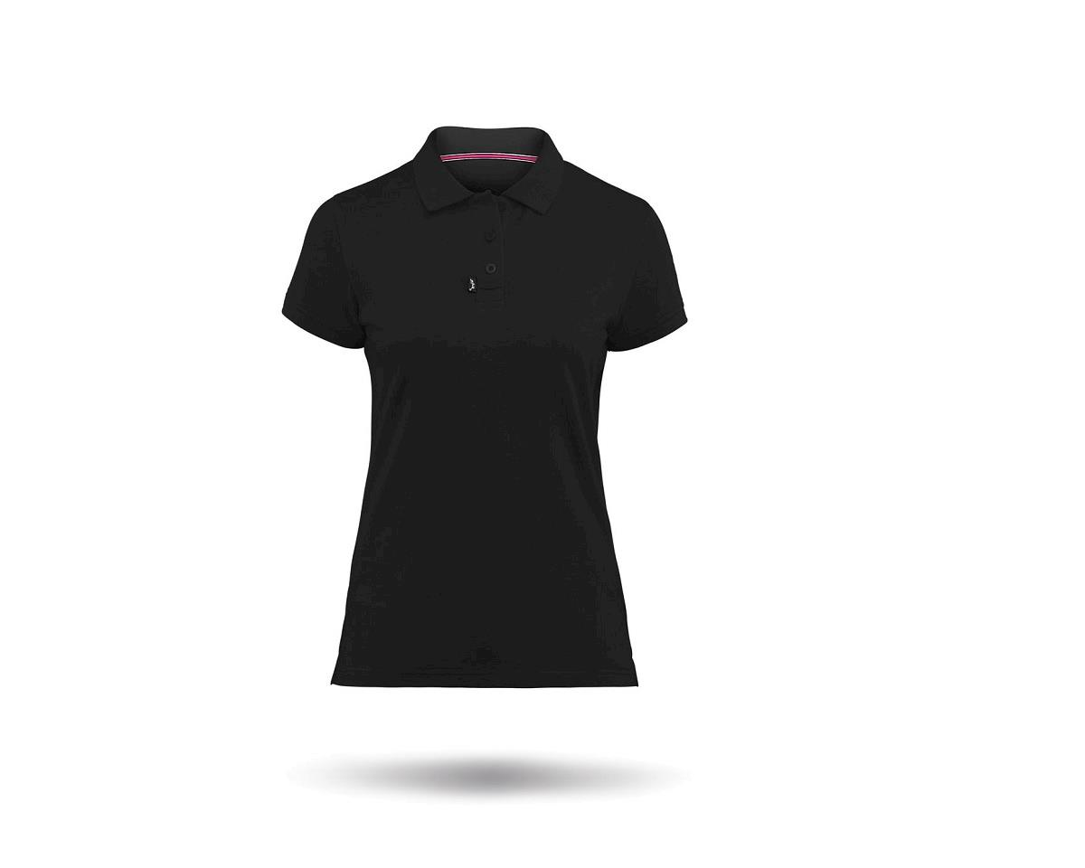 Zhik Cotton Short Sleeve Polo Shirt (Black) (Women)