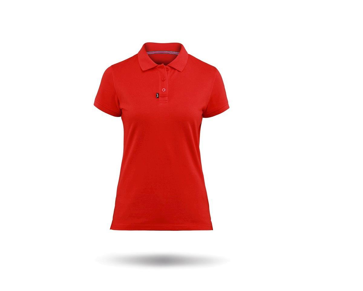 Zhik Cotton Short Sleeve Polo Shirt (Red) (Women)