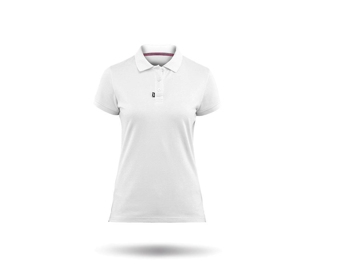 Zhik Cotton Short Sleeve Polo Shirt (White) (Women)