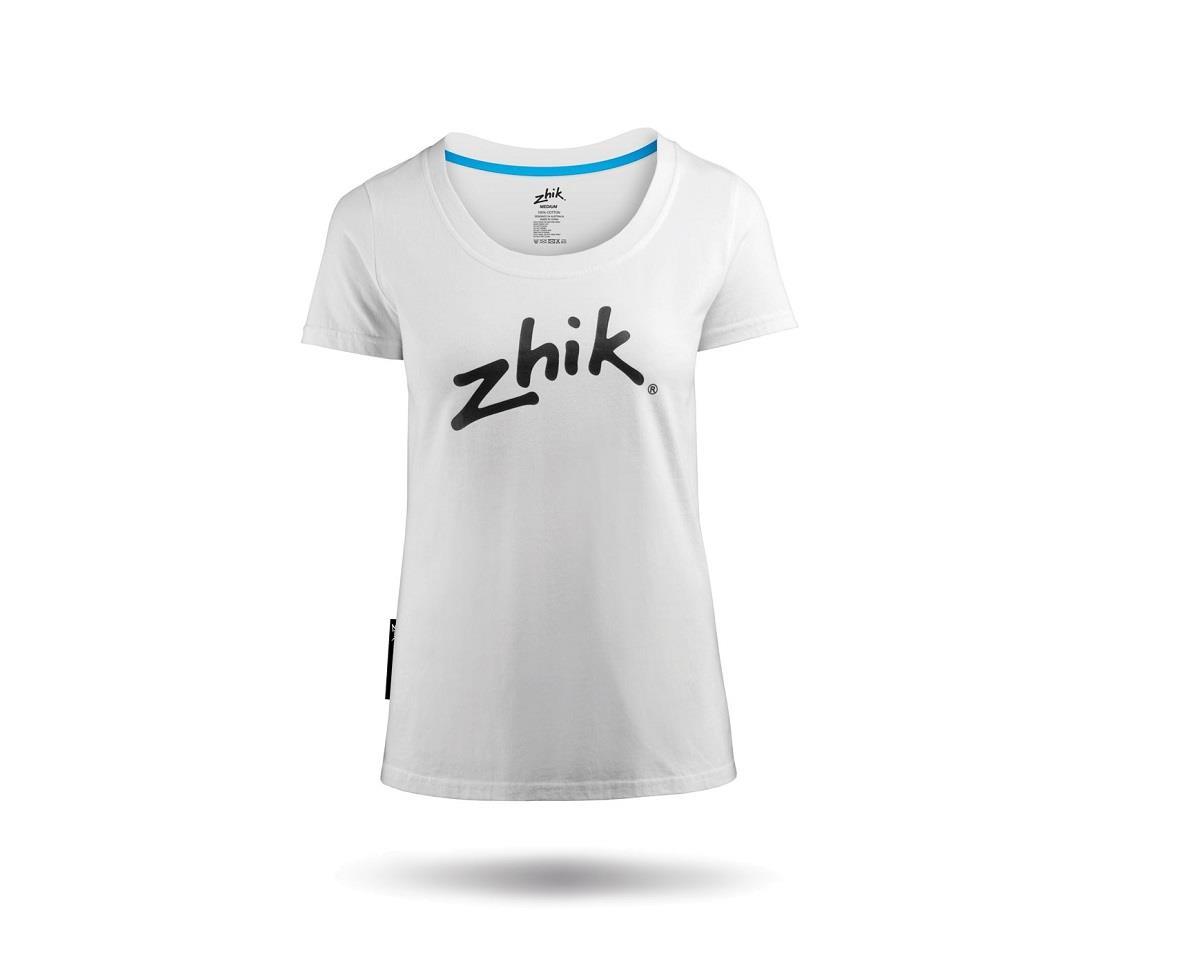 Zhik Cotton Hydrophobic Tee (White) (Women)