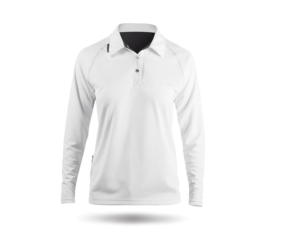 Zhik ZhikDry Long Sleeve Polo Shirt (White) (Women)