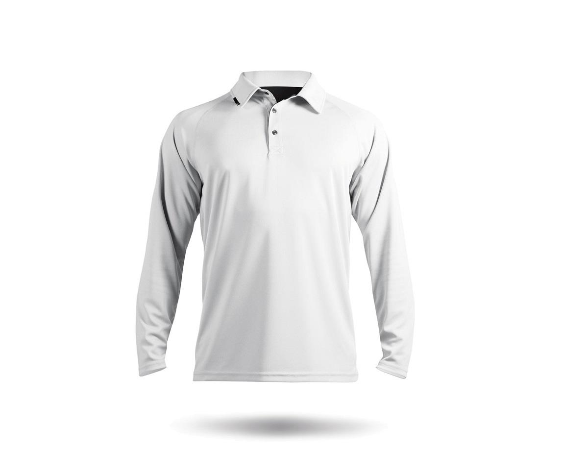 Zhik ZhikDry Long Sleve Polo Shirt (White)