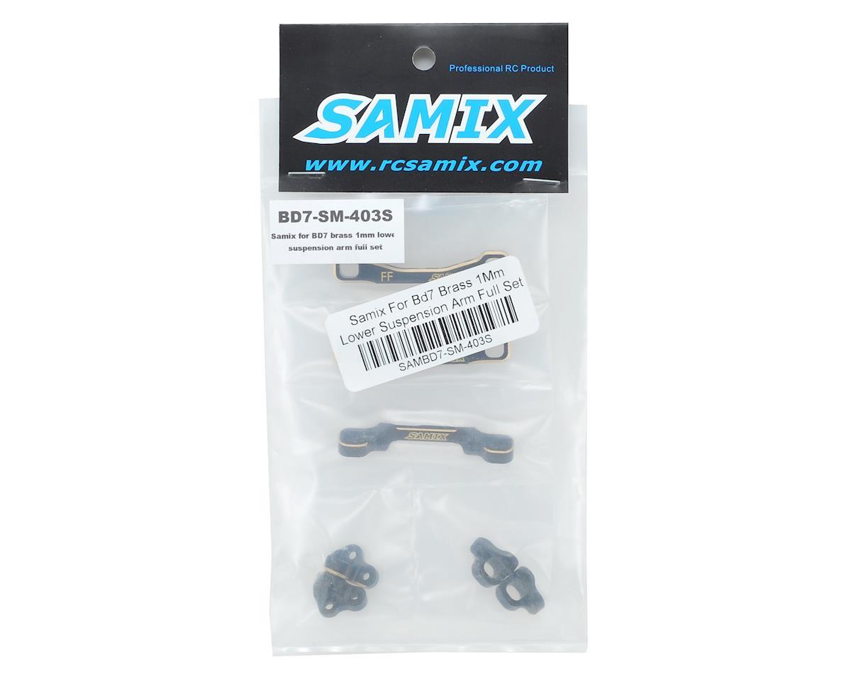 Samix BD7/BD8 Brass Suspension Mount Set (1mm Lower)