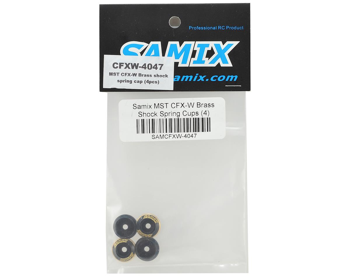 Samix MST CFX-W Brass Shock Spring Cups (4)