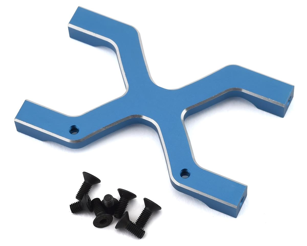 Samix Enduro/SCX10 II Rear Chassis H Brace (Blue)