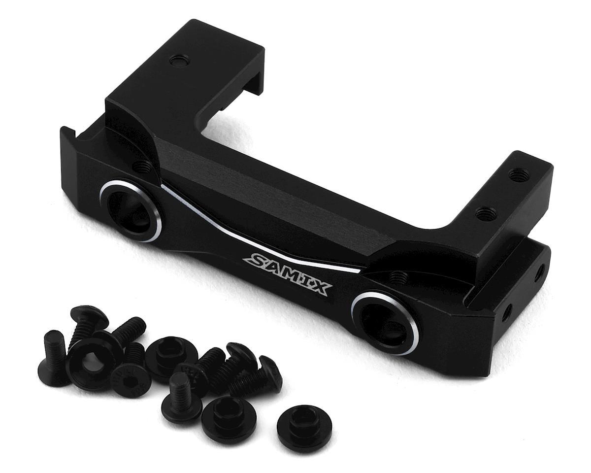 Samix Enduro Aluminum Short Front Bumper Mount w/Adjustable Servo Mount (Black)
