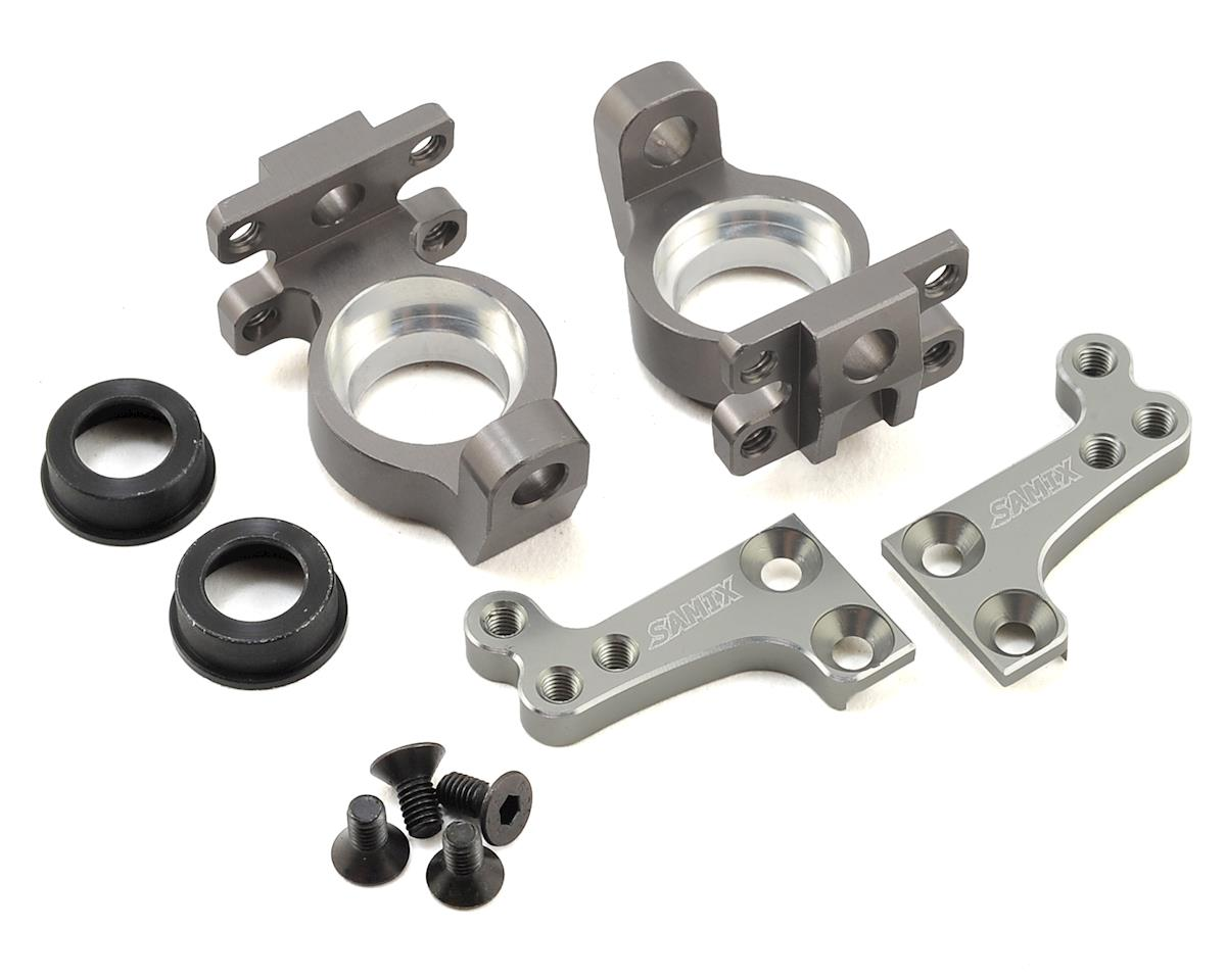 Samix SCX10 High Clearance Steering Knuckle Arm (8 Degree) (Grey)