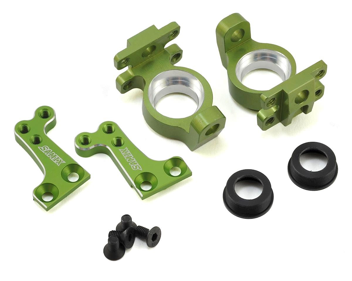 SCX10 High Clearance Steering Knuckle Arm (8 Degree) (Green) by Samix