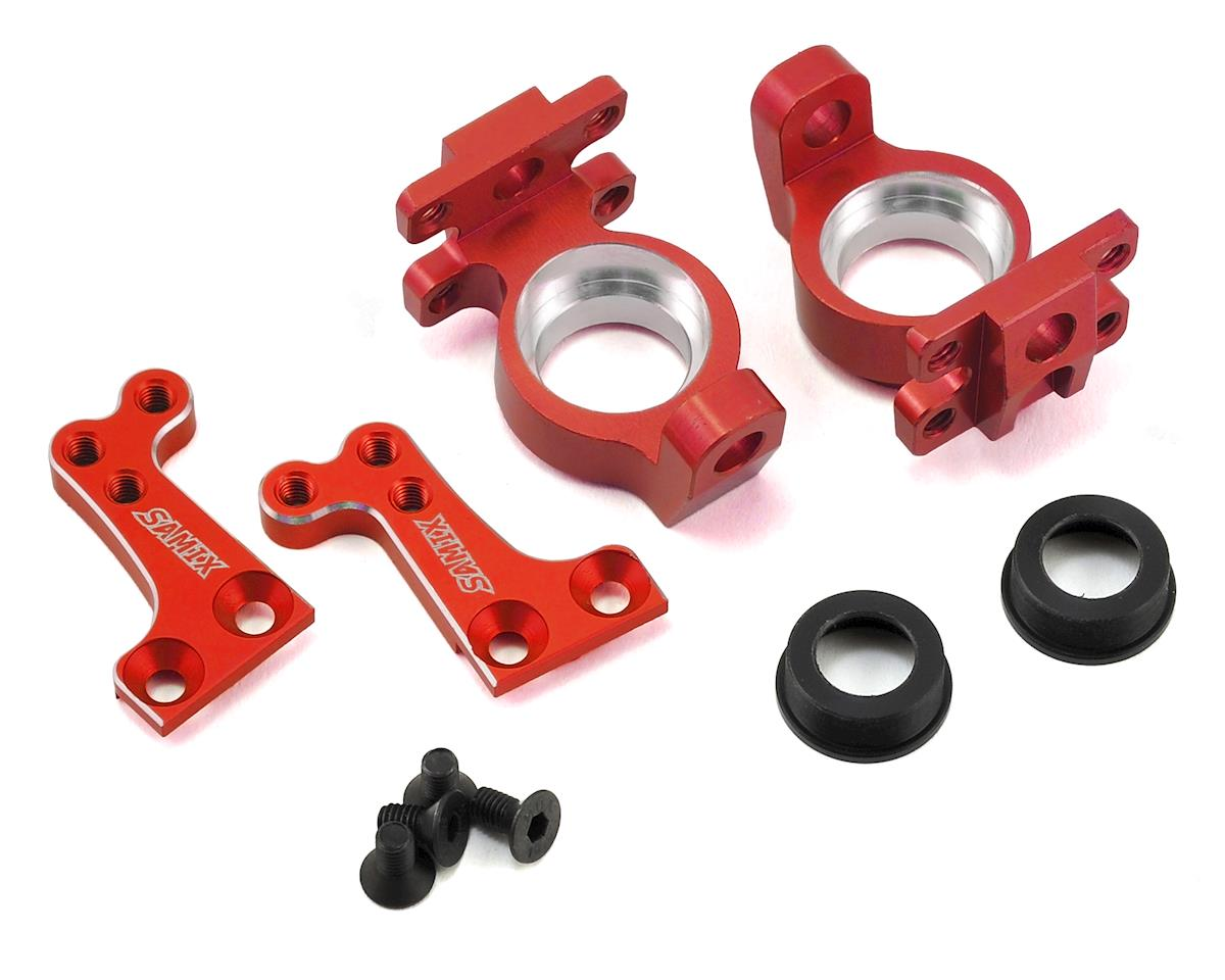 Samix SCX10 High Clearance Steering Knuckle Arm (8 Degree) (Red)