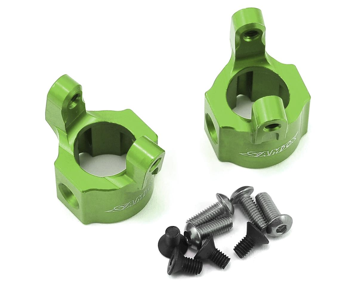 SCX10 Hub Carrier (8 Degree) (Green) by Samix