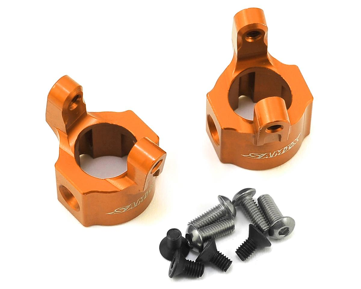 Samix SCX10 Hub Carrier (8 Degree) (Orange)