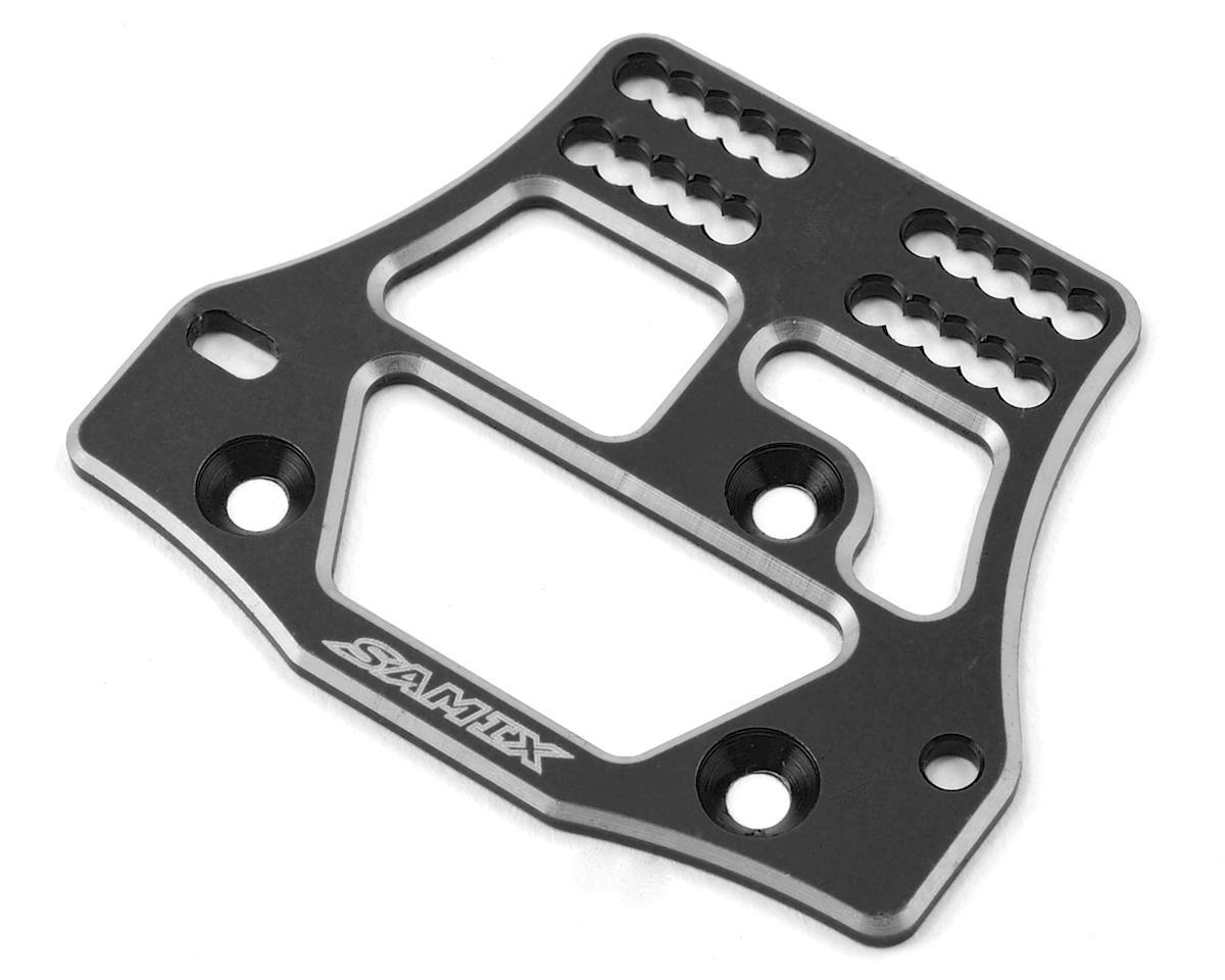 Samix SCX10 4 Link Servo Plate (Black)