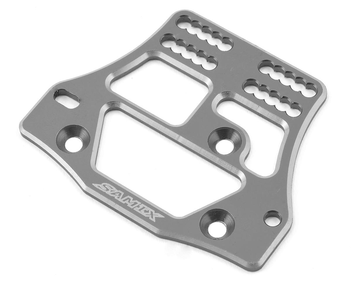 Samix SCX10 4 Link Servo Plate (Grey)