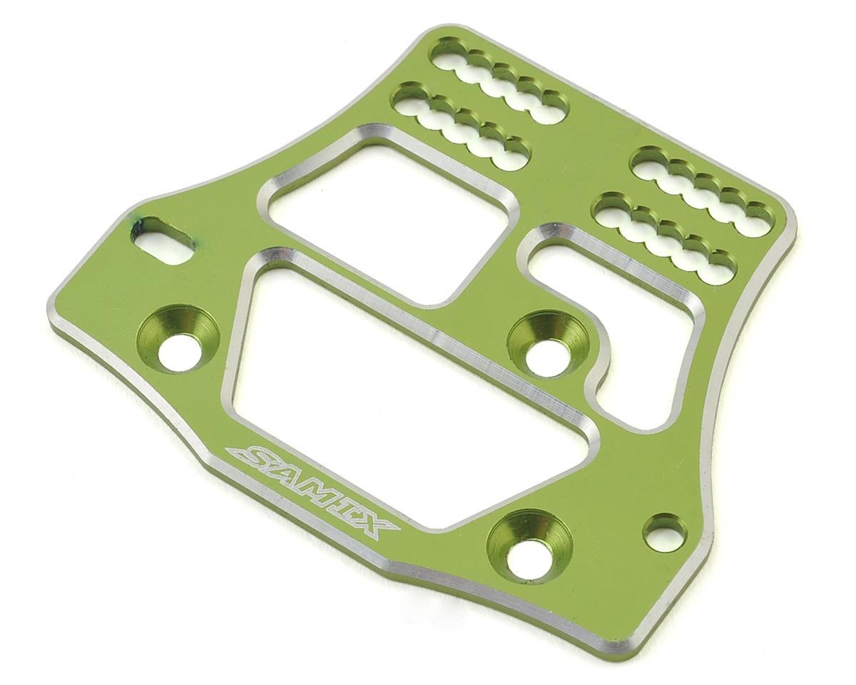 Samix SCX10 4 Link Servo Plate (Green)