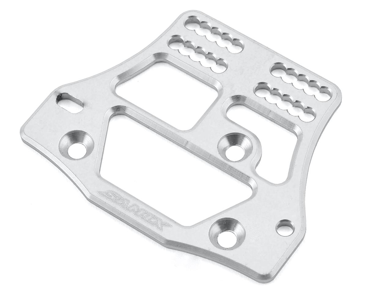 Samix SCX10 4 Link Servo Plate (Silver)
