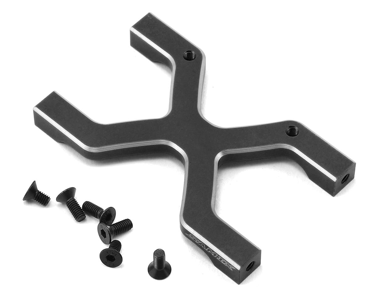 SCX10 Rear Chassis H Brace (Black) by Samix