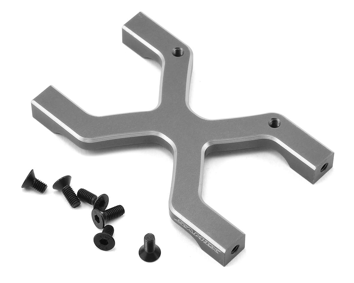 SCX10 Rear Chassis H Brace (Grey) by Samix