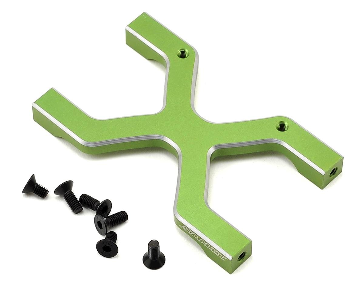 Samix SCX10 Rear Chassis H Brace (Green)