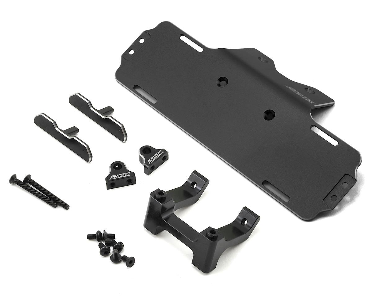 Samix SCX10 Forward Adjust Battery Tray Kit (Black)