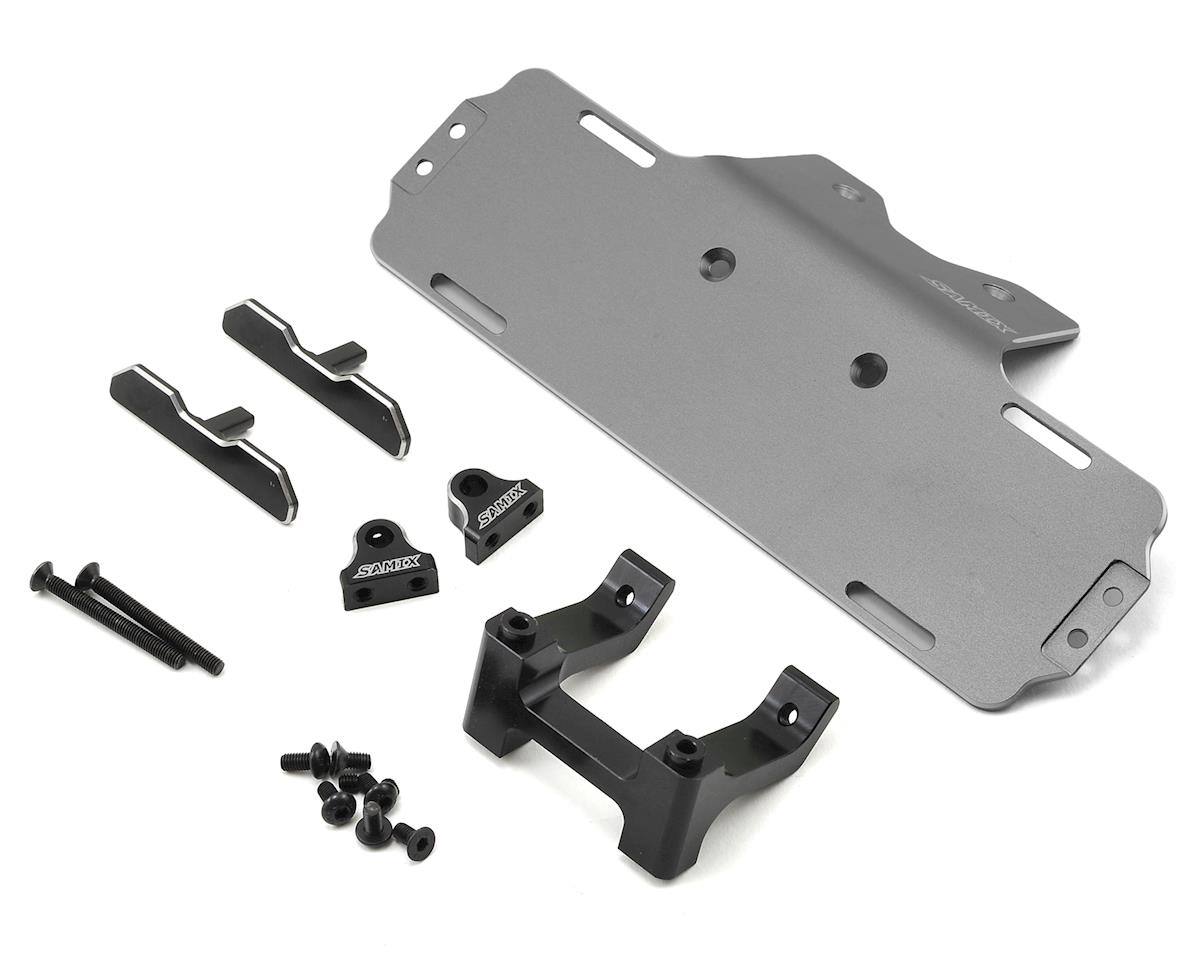 Samix SCX10 Forward Adjust Battery Tray Kit (Grey)