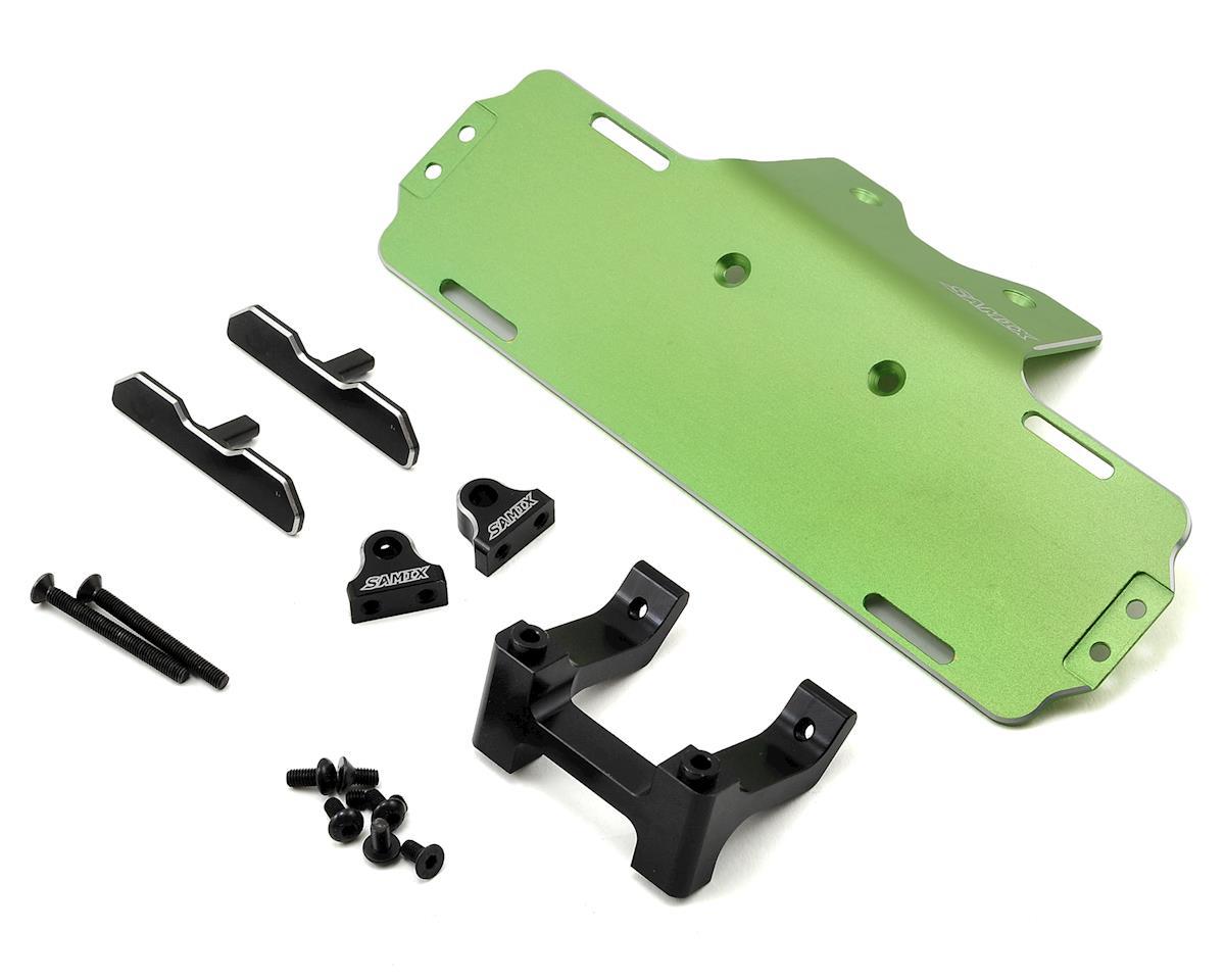 Samix SCX10 Forward Adjust Battery Tray Kit (Green)